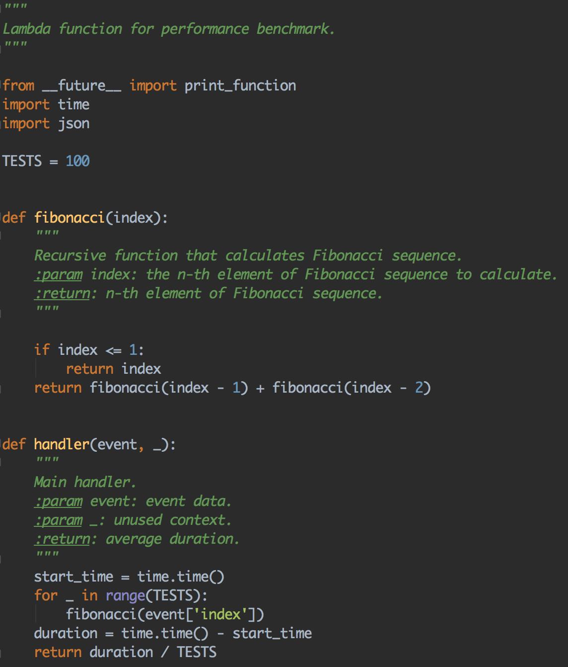 AWS Lambda Fibonacci